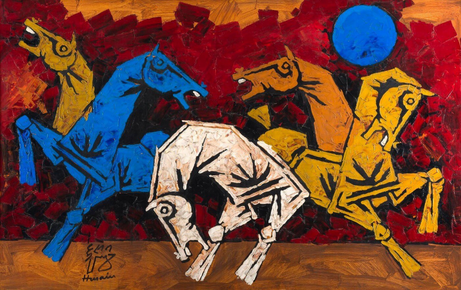 Horses By M.F. Hussain